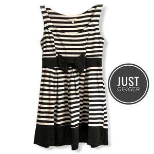 Just Ginger Sleeveless Striped Bow Dress [small]